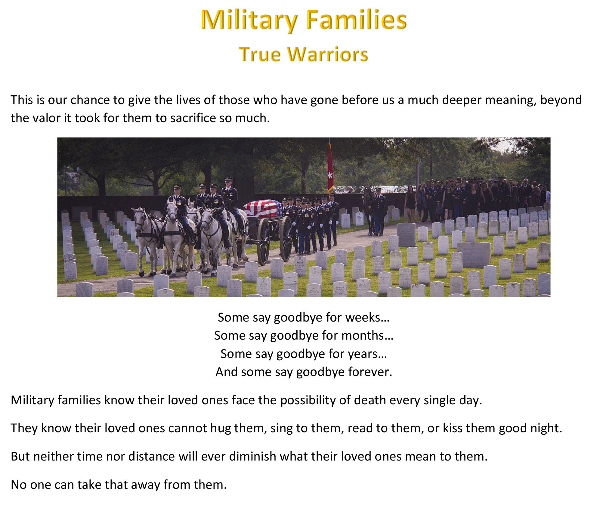 Military Families