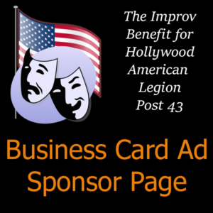 Sponsor Page - Business Card Ad
