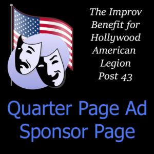 Sponsor Page - Quarter-Page Ad