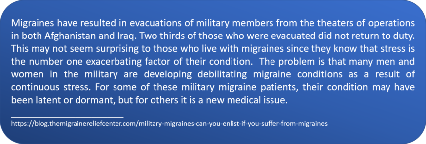 Migraines in the military